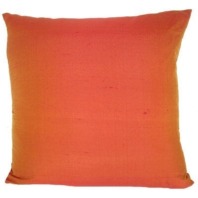 Knife Edge Silk Throw Pillow Color: Cranberry