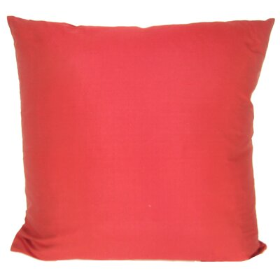 Knife Edge Silk Throw Pillow Color: Scarlet