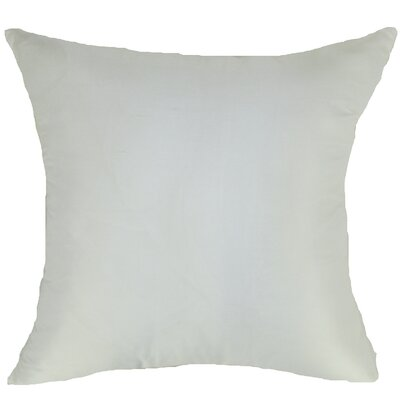Knife Edge Silk Throw Pillow Color: White