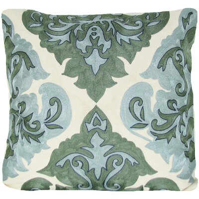 Arabic Damask Throw Pillow Color: Green