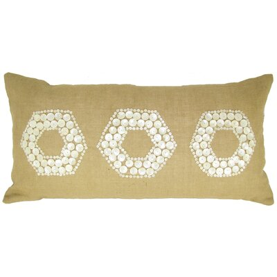 Mop Motif Jute Throw Pillow