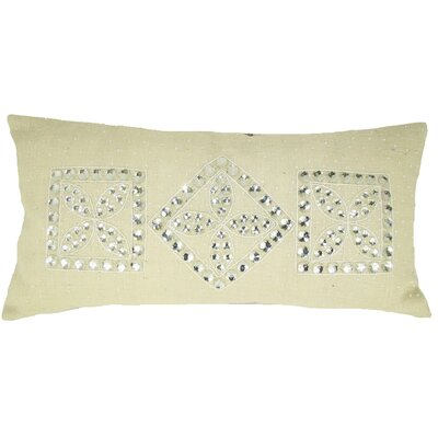 Jewel Frame Jute Throw Pillow