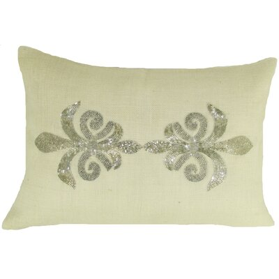 Fleur Di Lye Jute Lumbar Pillow