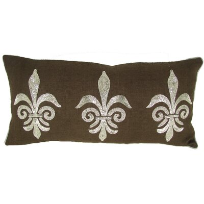 Fleur Di Lye Jute Throw Pillow Color: Chocolate
