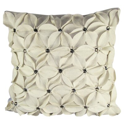 Poinsettias Jewels Felt Throw Pillow Color: Ivory