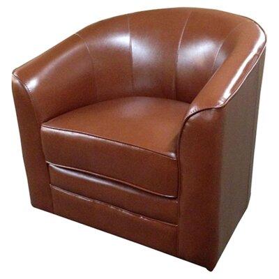 Emerald Home Milo Swivel Slipper Chair - Color: Saddle Brown