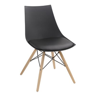 Ahlers Side Chair Finish: Black