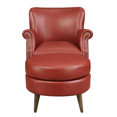 Chowdhury Armchair Upholstery: Red