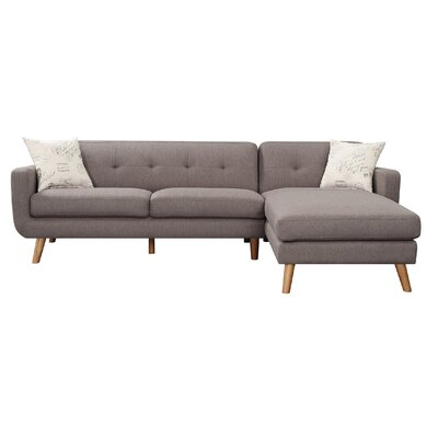 Remix Sectional Upholstery: Brown