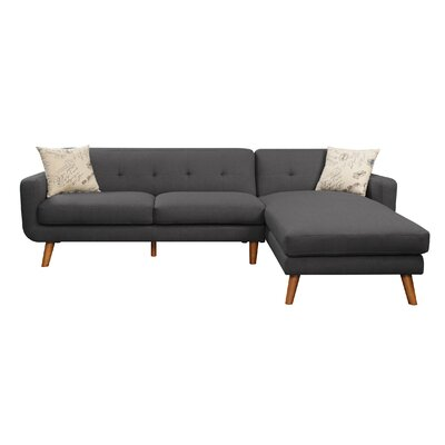 Remix Sectional Upholstery: Charcoal