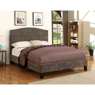 Belmont Upholstered Panel Bed Color: Brown, Size: Queen