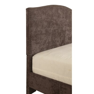 Mckissick Upholstered Panel Bed Size: King, Color: Brown