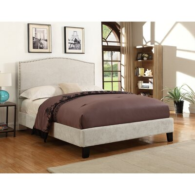 Belmont Upholstered Panel Bed Color: Cream, Size: Queen