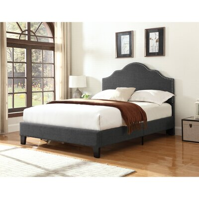 Cherita Upholstered Panel Bed Upholstery: Charcoal, Size: Queen