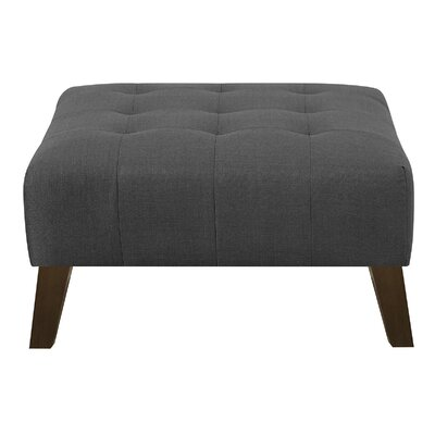 Schiller Ottoman Upholstery: Charcoal