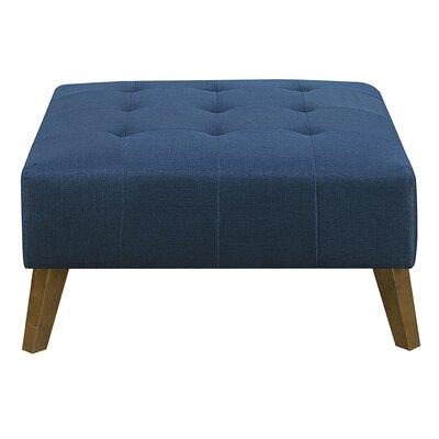 Schiller Ottoman Upholstery: Navy
