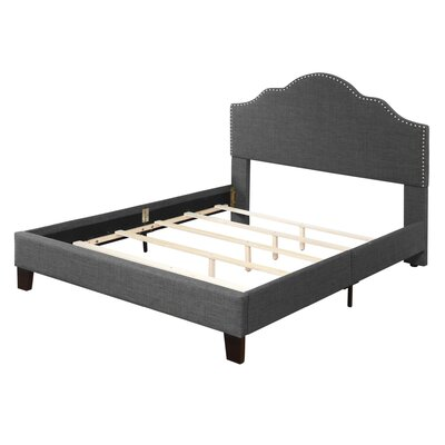 Kinnison Upholstered Panel Bed Size: California King, Color: Charcoal