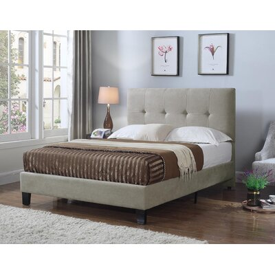 Bumgarner Upholstered Panel Bed Size: King, Upholstery: Taupe