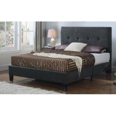 Bumgarner Upholstered Panel Bed Size: King, Upholstery: Charcoal