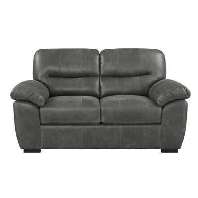 Clapham Standard Loveseat Upholstery: Charcoal