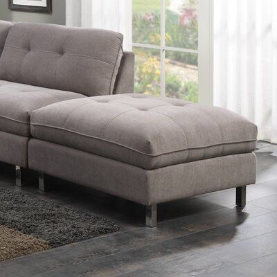 Castello Cocktail Ottoman Gray