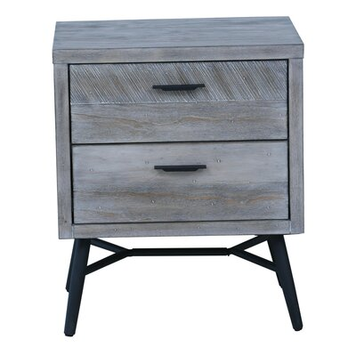Laquita 2 Drawer Nightstand