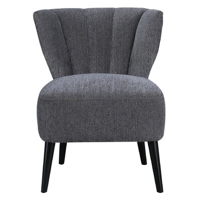 Bosarge Slipper Chair Upholstery: Charcoal
