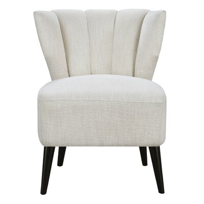 Vela Slipper Chair Upholstery: Cream