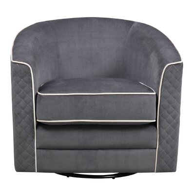 Jenifry Swivel Barrel Chair Upholstery: Charcoal