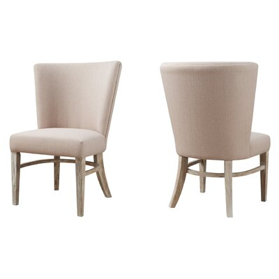 Sidney Rustic Upholstered Dining Chair (Set of 2)