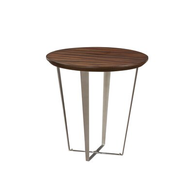 Antigone End Table with Metal Base