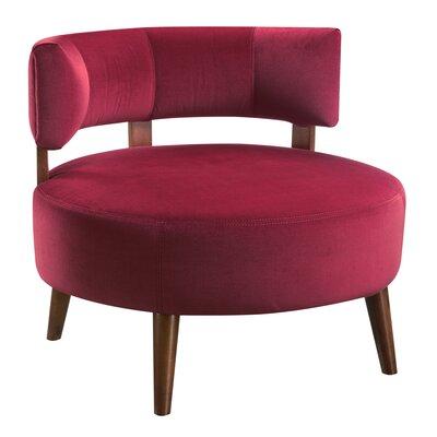 Deluna Barrel Chair Upholstery : Wine