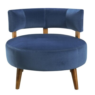 Kolby Barrel Chair Upholstery : Teal