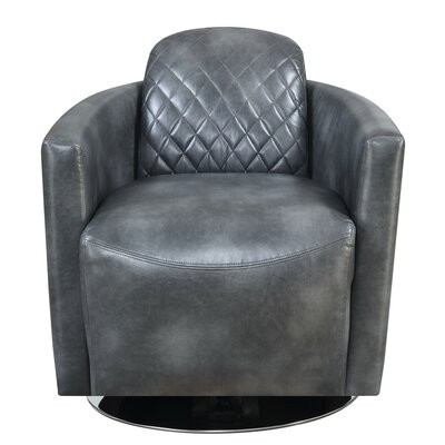 Karissa Swivel Barrel Chair Upholstery : Gray
