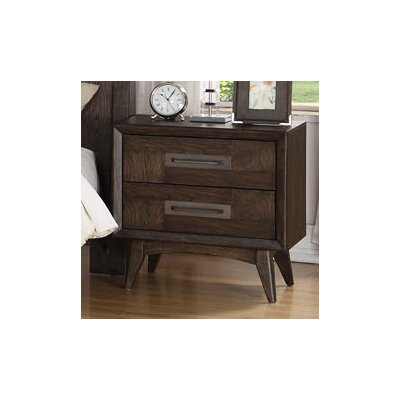 Diantha 2 Drawer Nightstand