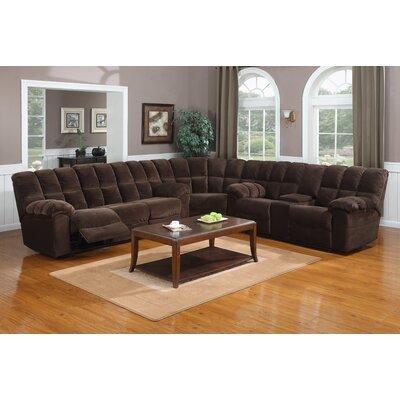 Brown fabric stylish sectional sofareclinersdrop table for Bella chaise dark brown