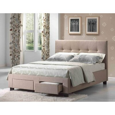 Loga Upholstered Storage Panel Bed