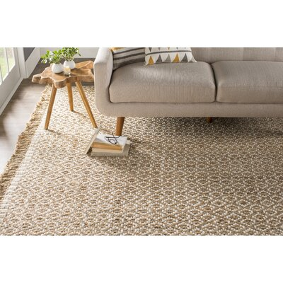 Nicholson Fiber Hand-Woven Natural/Ivory Area Rug Rug Size: Rectangle 8 x 10