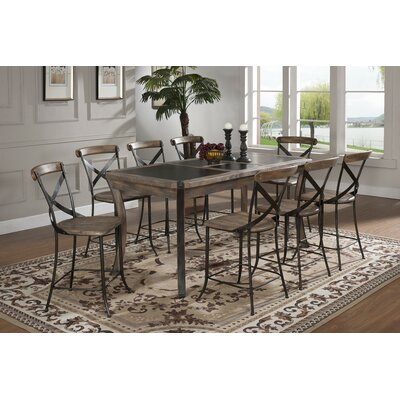 Lancaster 9 Piece Counter Height Dining Set The One Shop