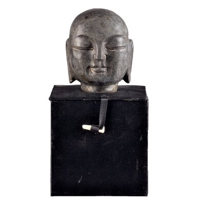 Asian Hand-carved Monk Head Bust Size: Small