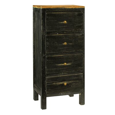 Lucia 4 Drawer Chest Color: Black