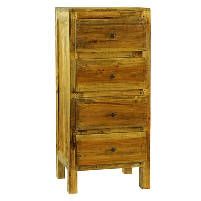 Lucia 4 Drawer Chest Color: Natural