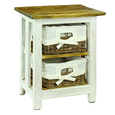 Regillo 2 Basket Drawer Nightstand
