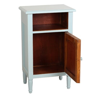 Zachary End Table With Storage� Color: Aqua