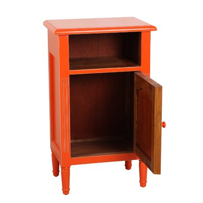 Zachary End Table With Storage� Color: Burnt Orange