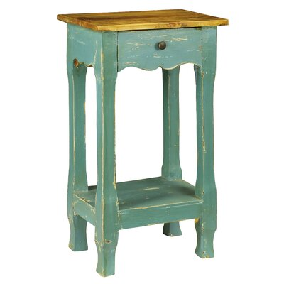 Amelia 1 Drawer Nightstand Color: Blue
