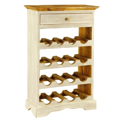Rathod 16 Bottle Floor Wine Rack Finish: White