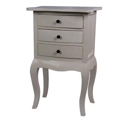 Saffron 3 Drawer Nightstand Color: White