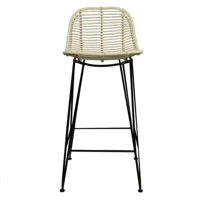 Cora High 34.25 Bar Stool Color: White