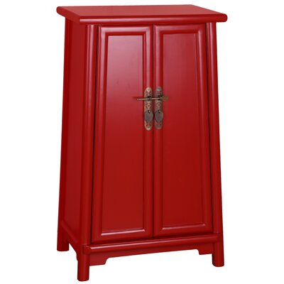 Heritage 2 Door Storage Accent Cabinet Finish: Red